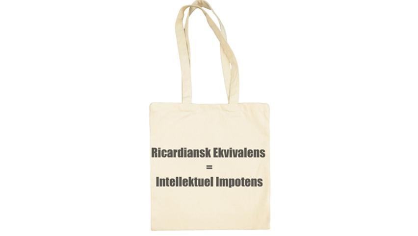 Handlenett: Rikardiansk ekvivalens = intellektuell impotens